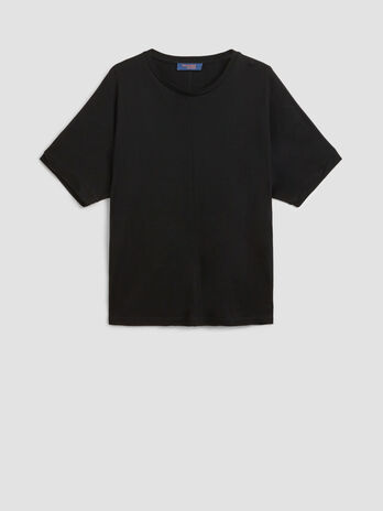 Oversized pure viscose T-shirt
