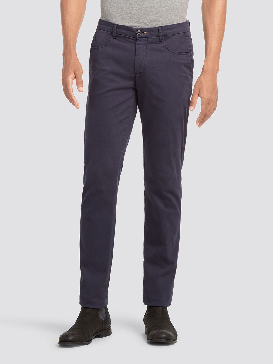 Aviator fit trousers with stitching