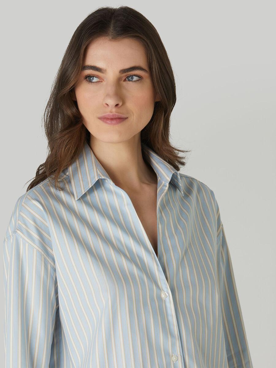 Striped cotton Oxford shirt