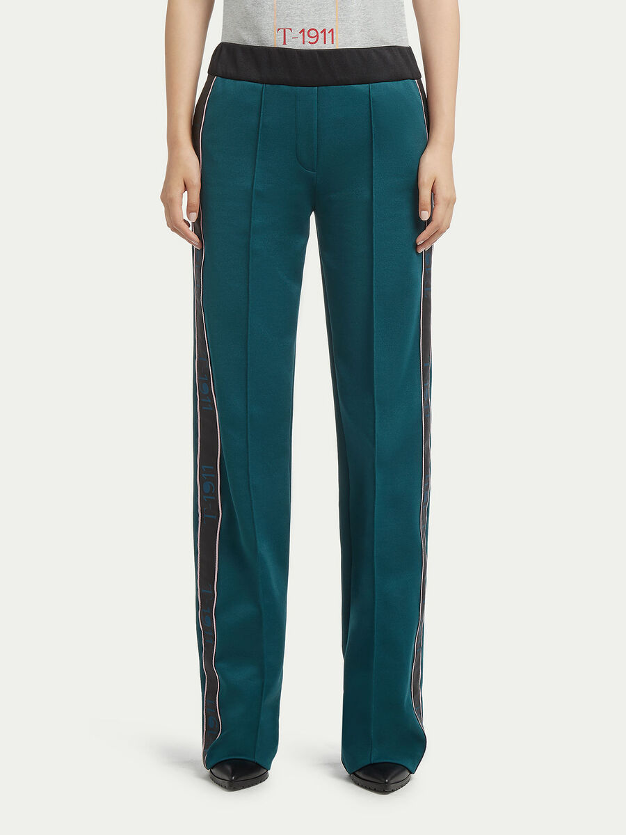 Pique trousers with bands