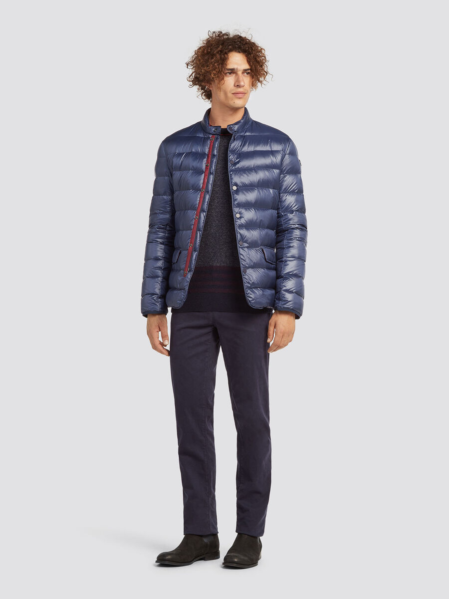 Regular fit plaited wool blend pullover