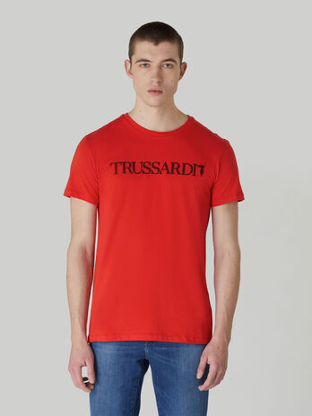 T-shirt regular fit in puro cotone con lettering
