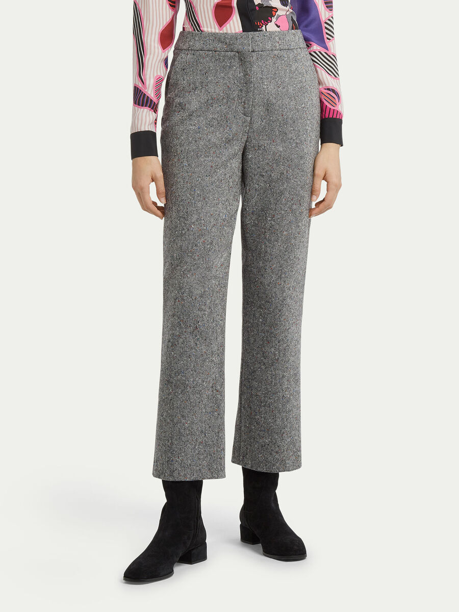 Tweed trousers with pockets