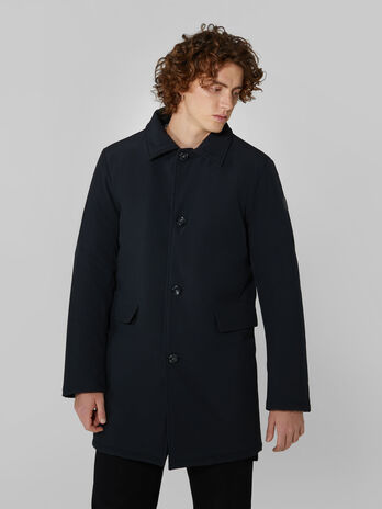 Car coat in neoprene matt