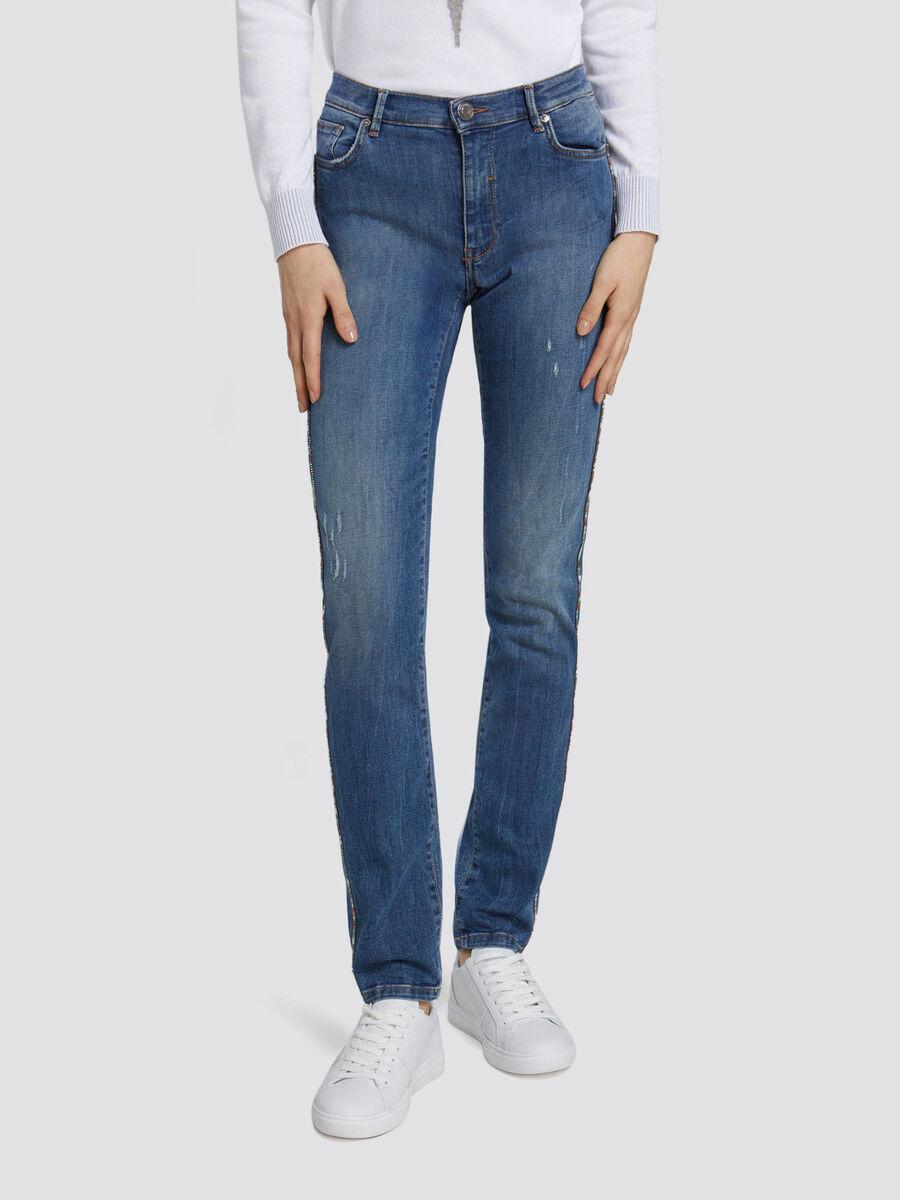 Skinny Seasonal 105 jeans with mini side band