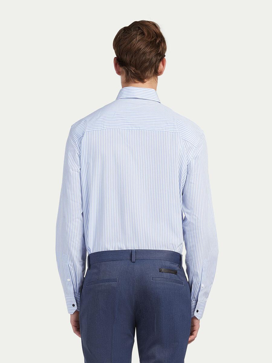 Oversize Hemd aus Popeline Streifenmuster