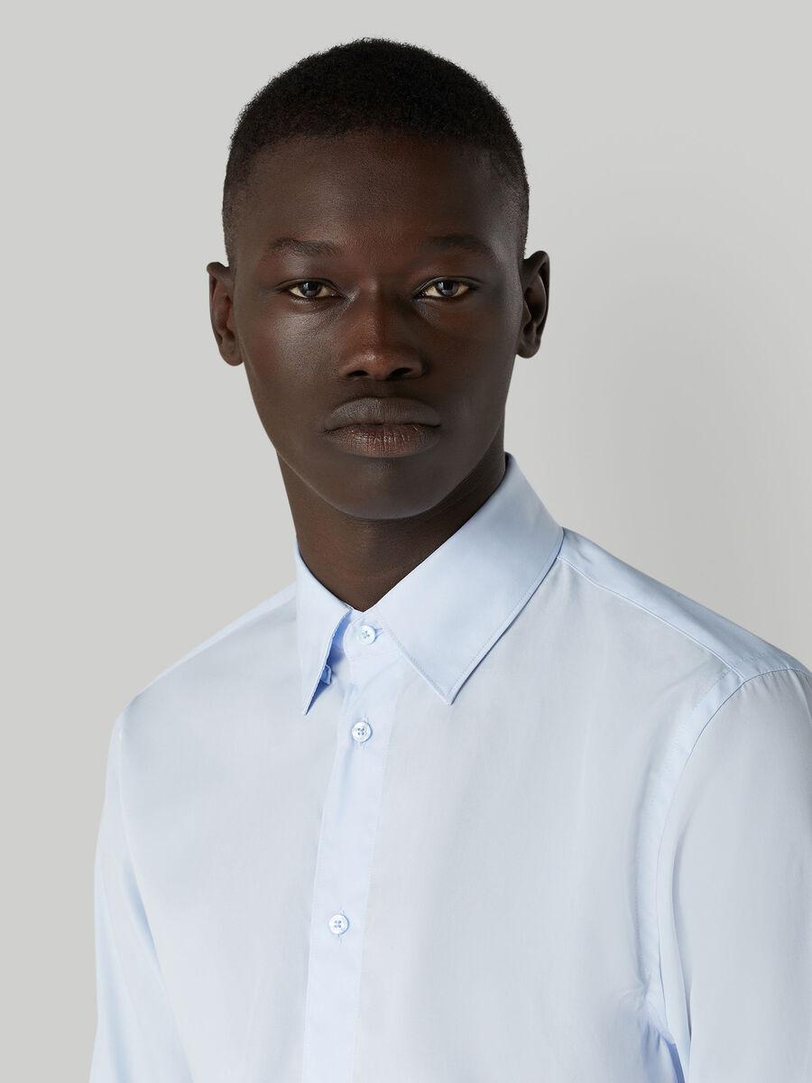 Regular-fit cotton poplin shirt