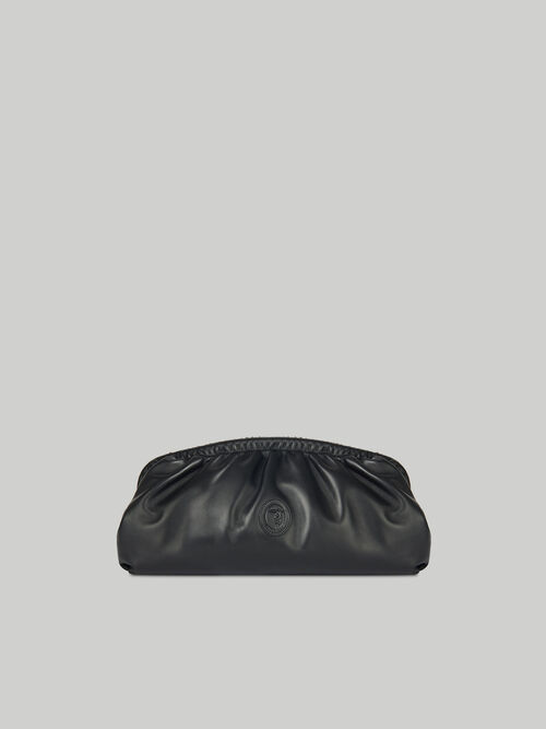 T79 clutch in monochrome nappa leather
