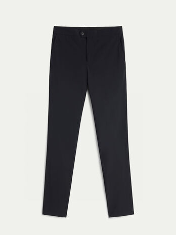 Slim fit stretch nylon trousers