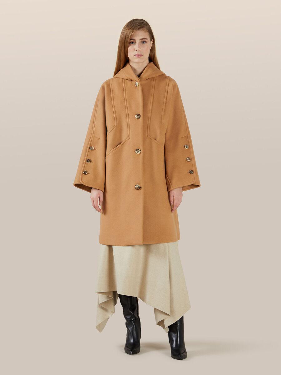 Cappa over fit in lana con cappuccio