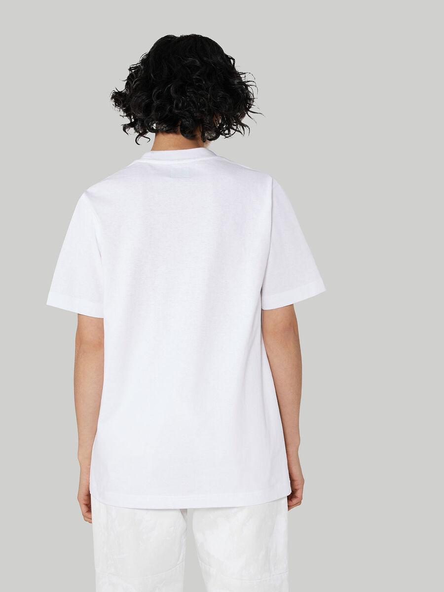 T-shirt coupe over en coton a imprime lettering