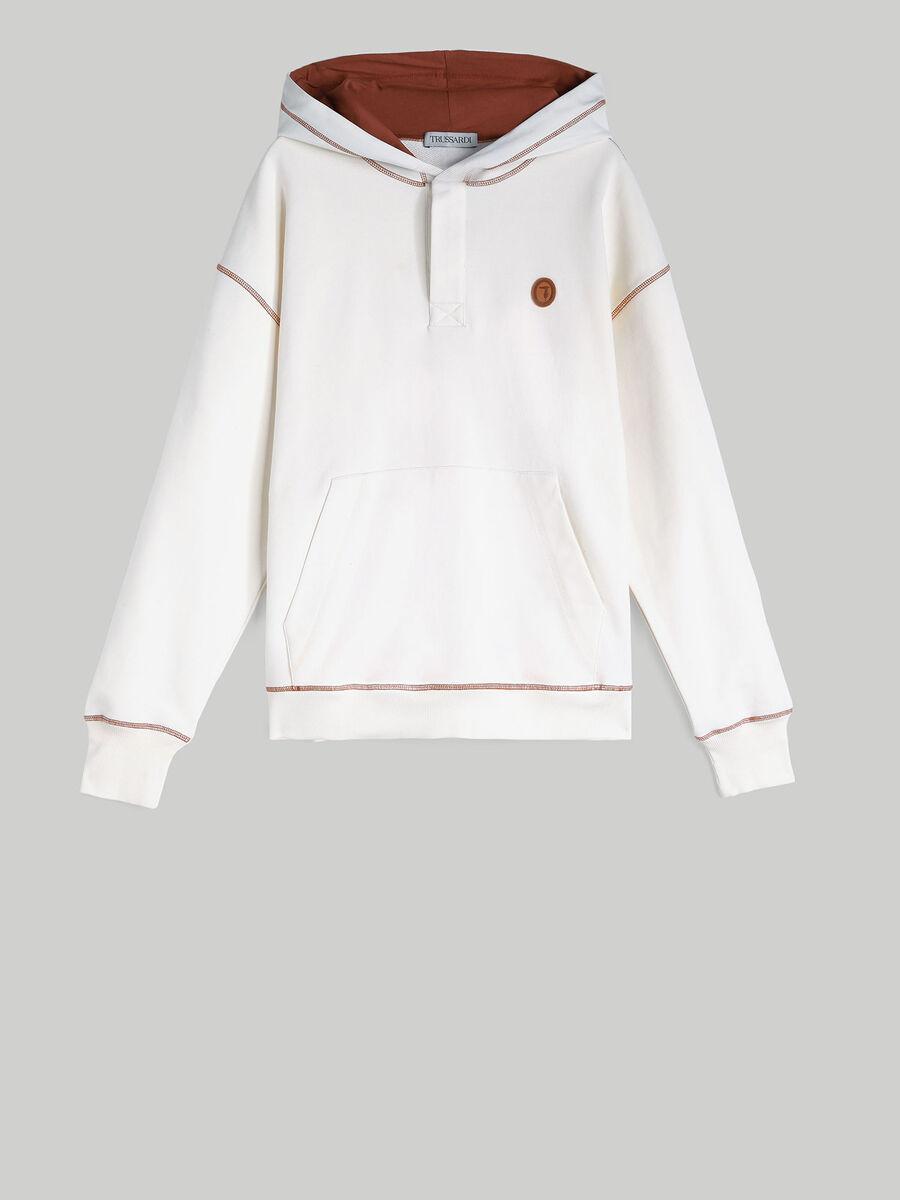 Oversized cotton hoody