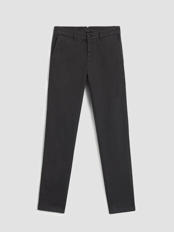 Pantalone aviator fit in twill stretch