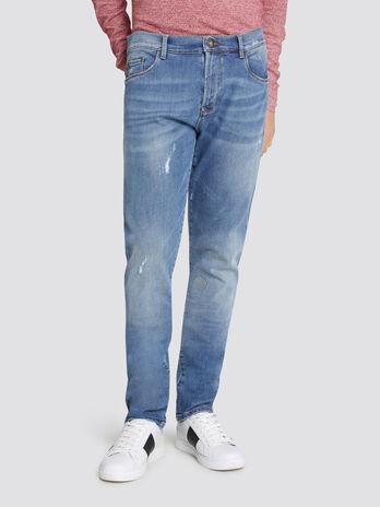 Extra slim Seasonal 370 jeans distressed effect denim