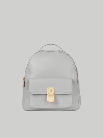 Medium Lione backpack in smooth faux leather