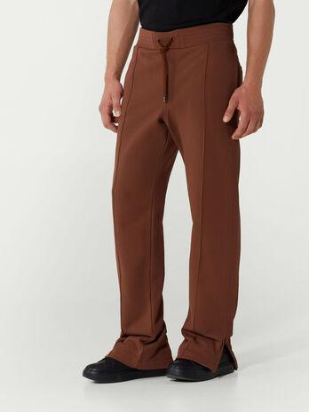 Pantalone jogging in felpa con coulisse