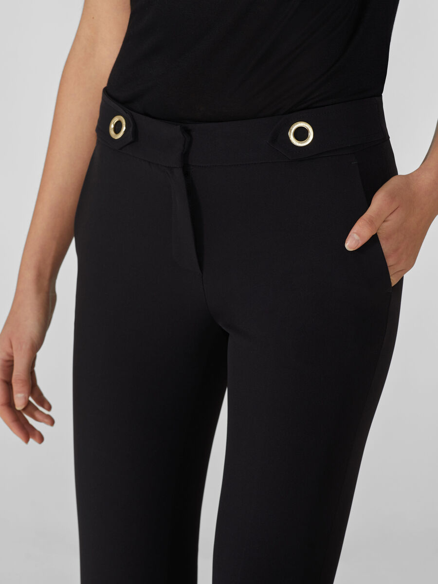 Light technical fabric trousers