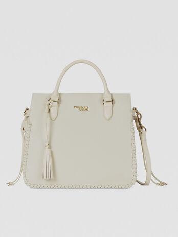 Medium Amanda top-handle bag in faux leather