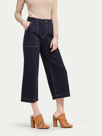 Pure cotton gaucho trousers