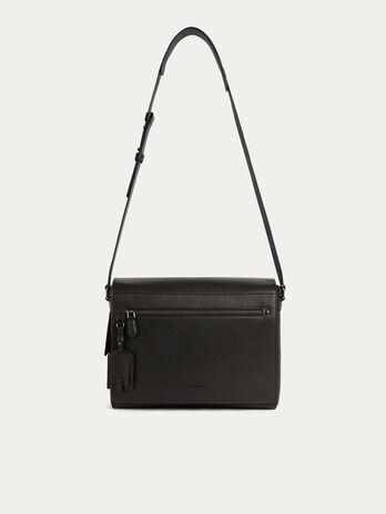 Grosse Messenger Tasche aus Leder mit Saffiano Praegung