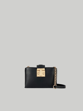 Cross-body Tulip small in similpelle metallizzata