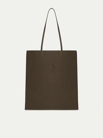 Shopping bag in nappa