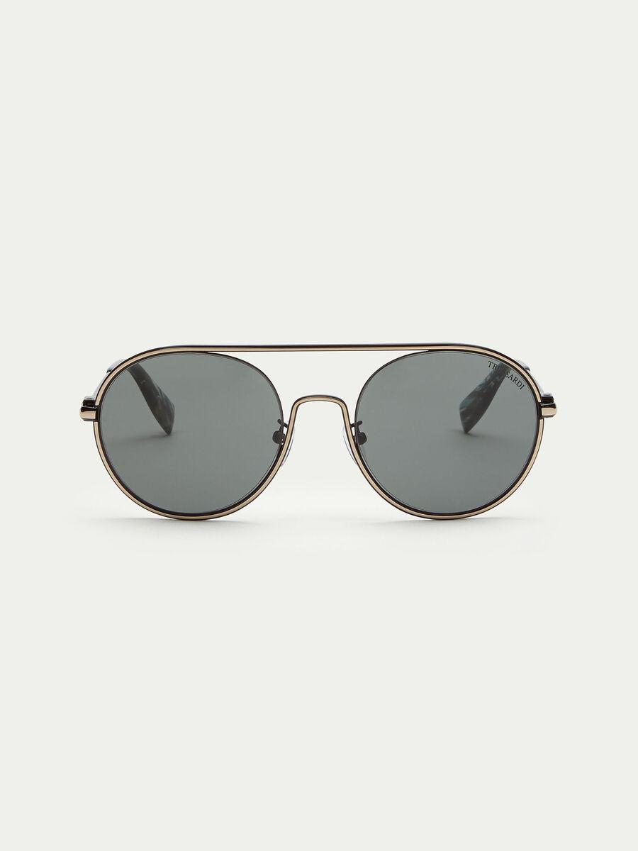 Flieger Sonnenbrille mit runden Glaesern