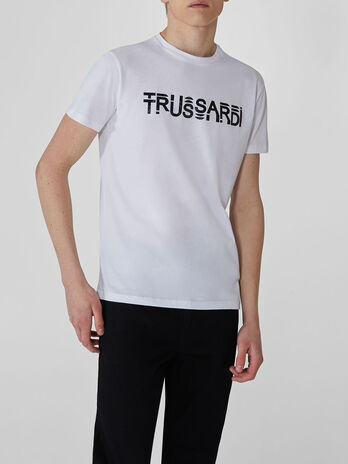 Regular-fit cotton T-shirt with lettering