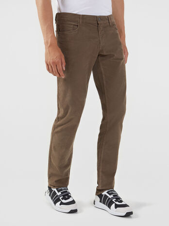Pantalon 370 Close Fancy de terciopelo elastico