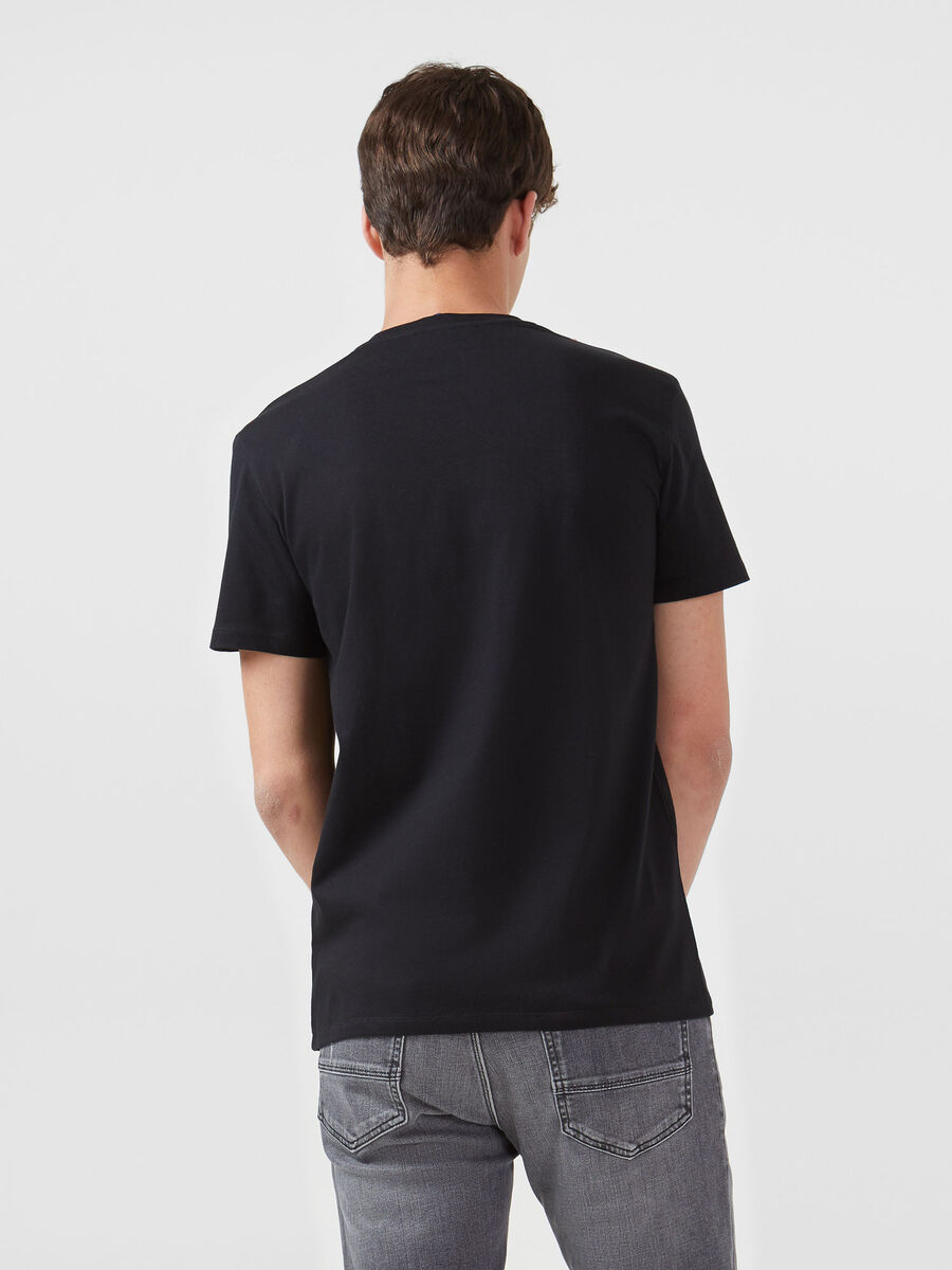 Regular fit jersey T-shirt with contrasting lettering