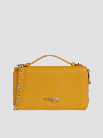 LargeT-Easy bag in faux leather with shoulder strap