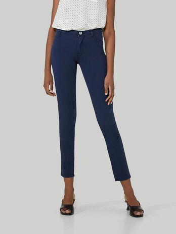 Pantalone 105 skinny in gabardina di cotone