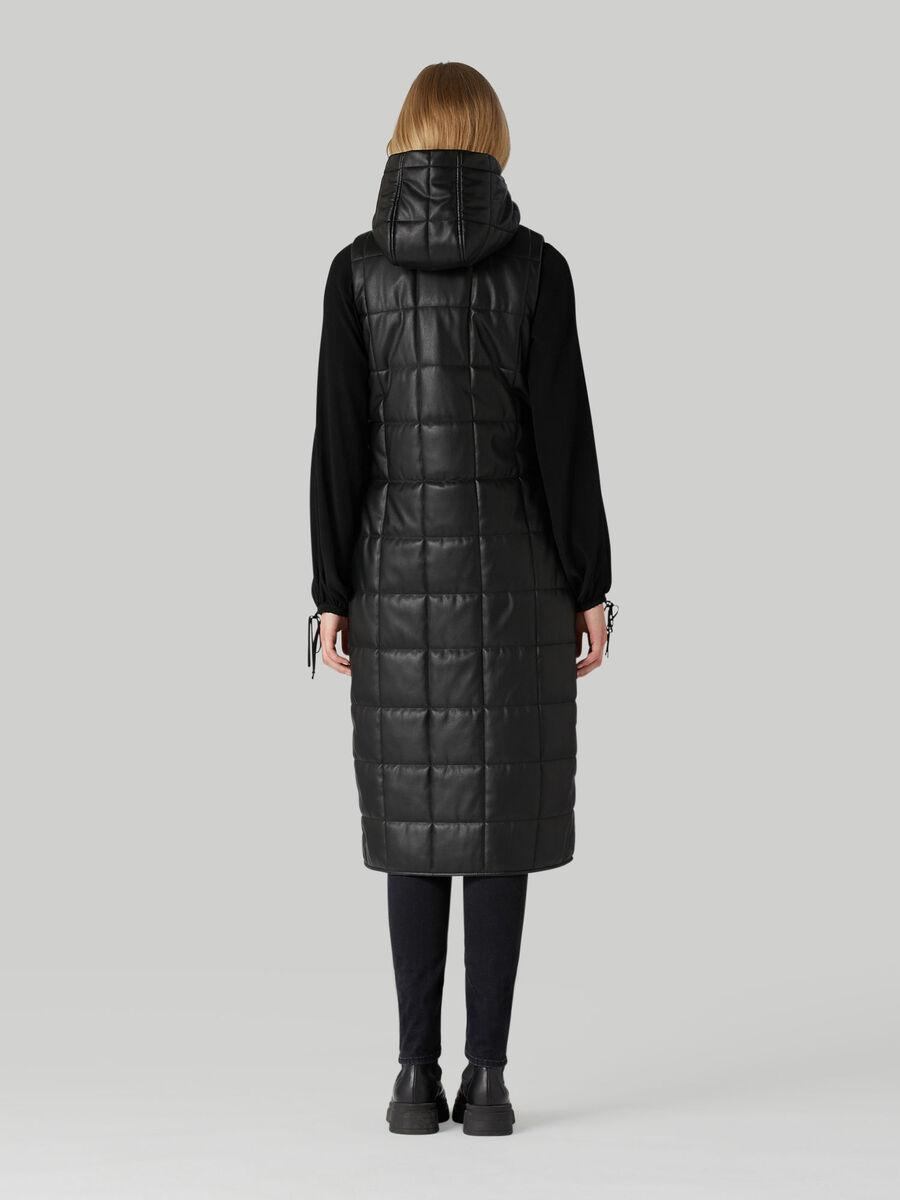 Long hooded gilet