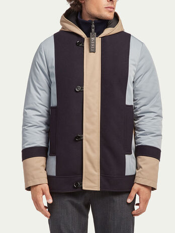 Regular fit down jacket with hood