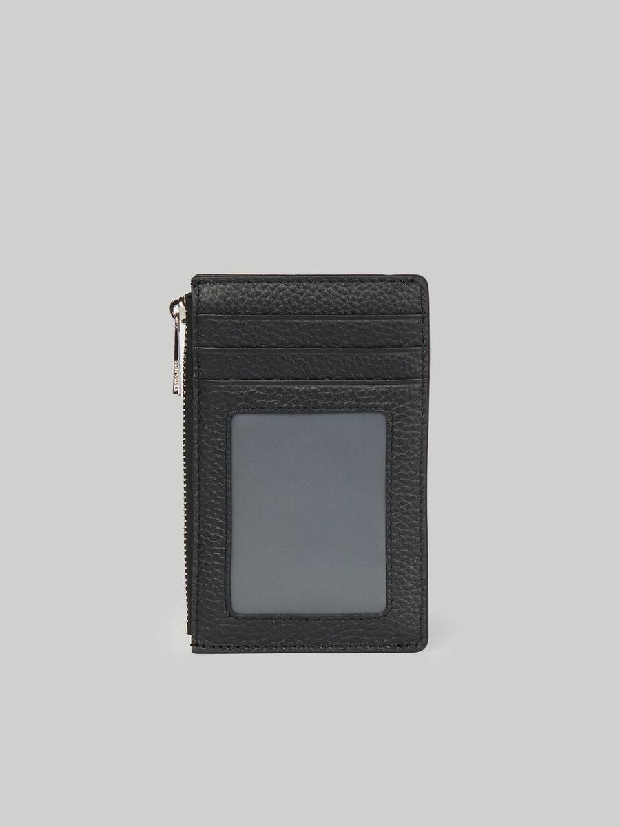 Hammered leather document holder