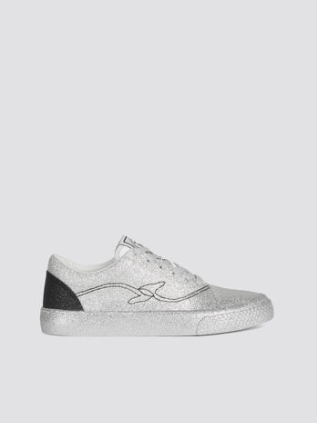 Sneakers pailletees Disco avec languette a logo