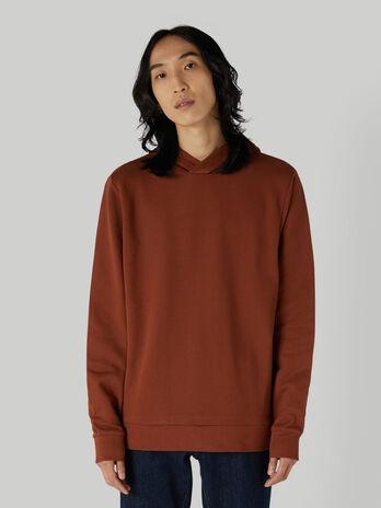 Regular-fit cotton sweatshirt with logo