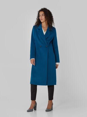 Manteau croise en tissu