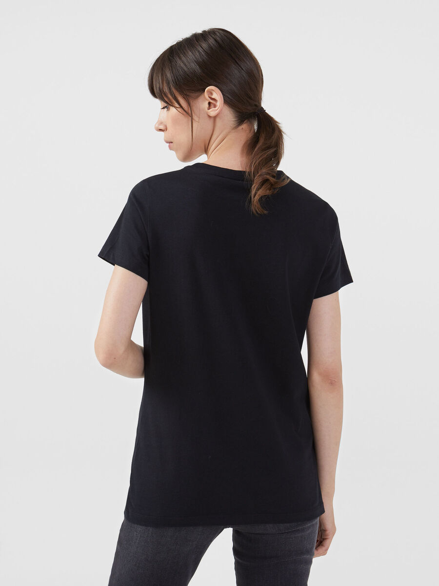 T-shirt regular fit in cotone con stampa lettering