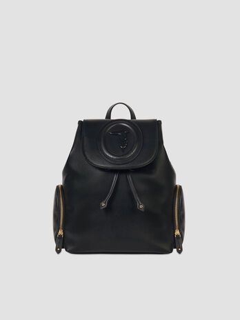Medium smooth faux leather Lisbona backpack