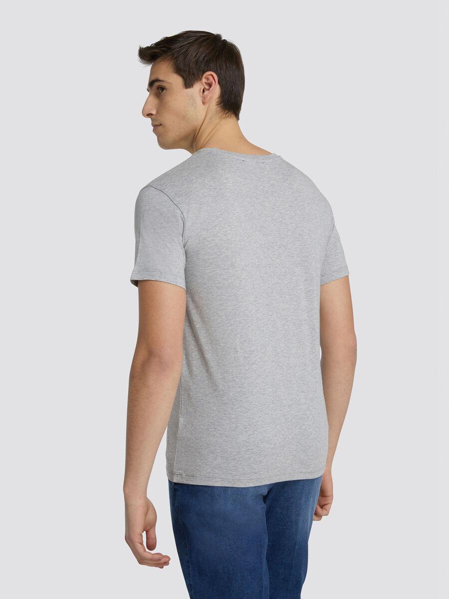 Regular fit jersey T shirt with horizontal band