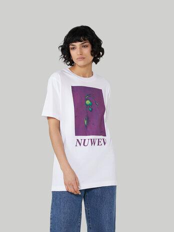 T-Shirt im Over-Fit aus Jersey mit polarisiertem Print