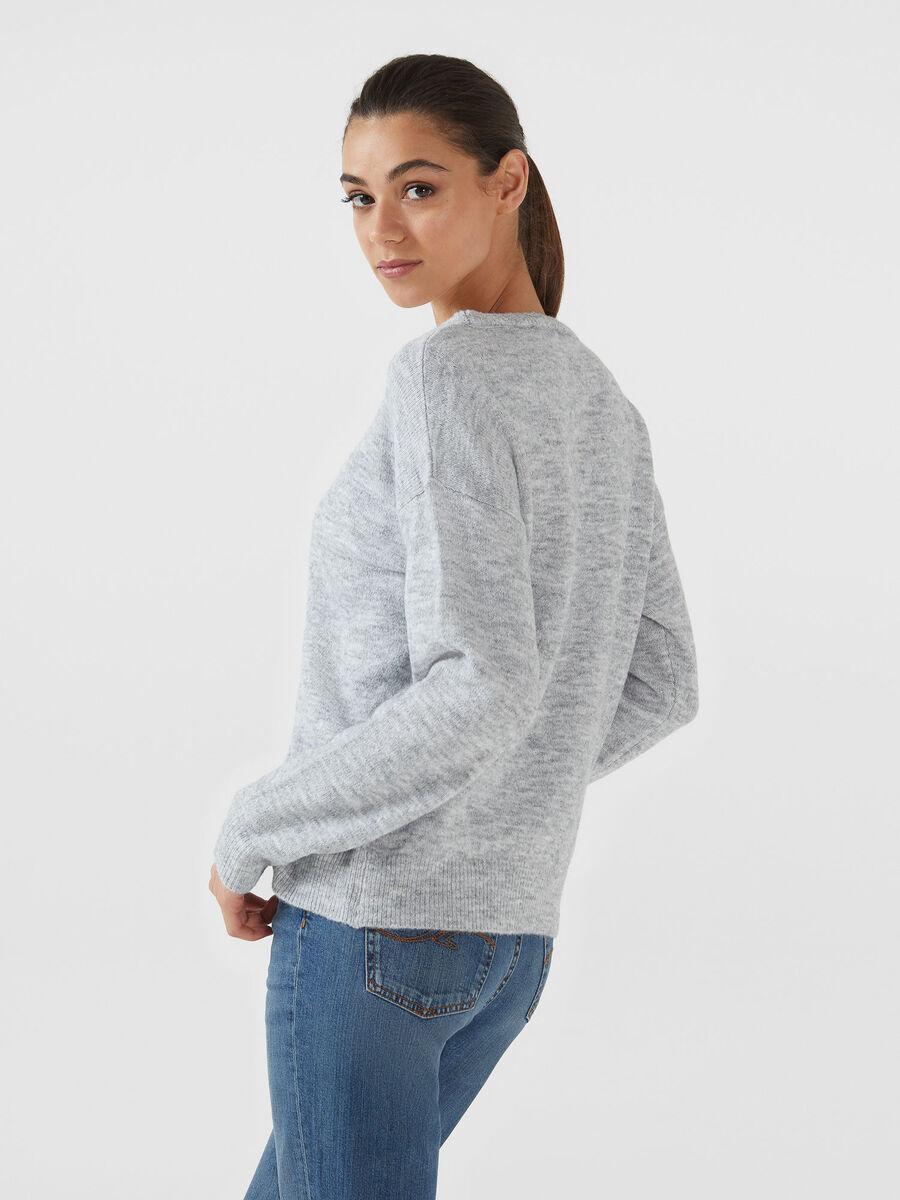 Jersey de corte holgado de mezcla de lana