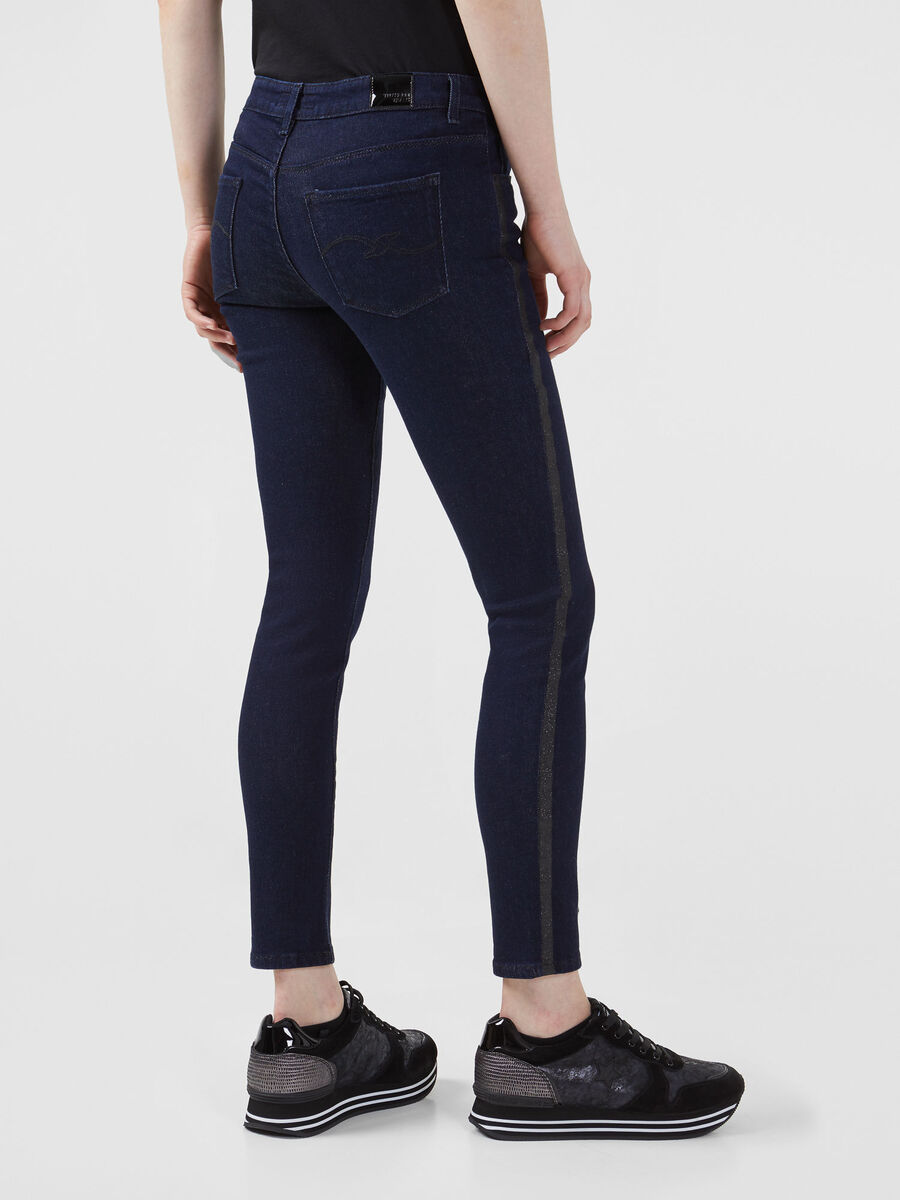Super skinny 206 jeans in 80s blue denim
