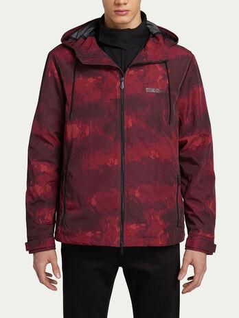 Over Fit Jacke aus Nylon mit Camouflage Print