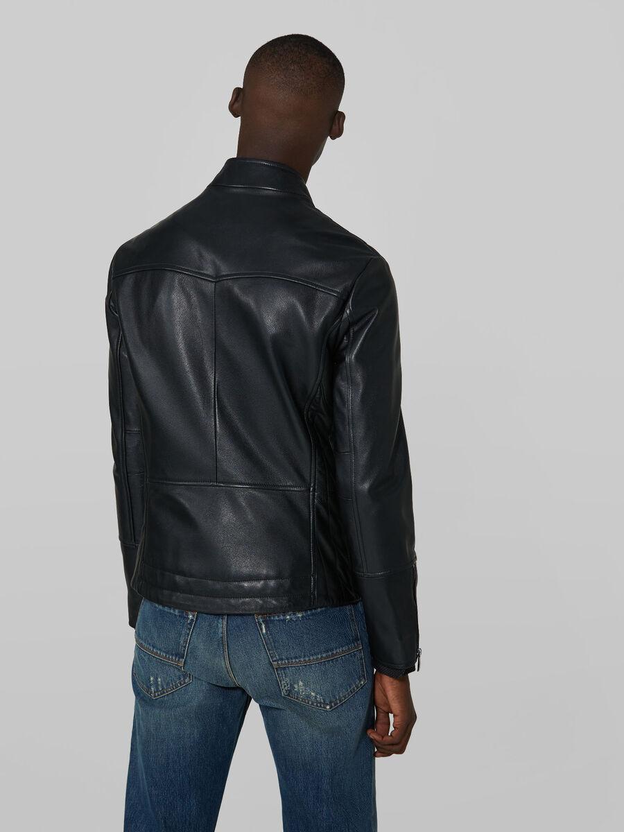 Motorcycle jacket in pelle