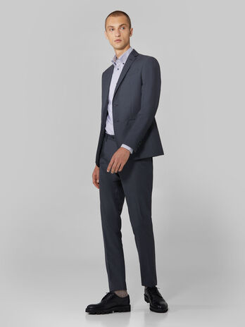 Completo uomo slim fit in tela di viscosa