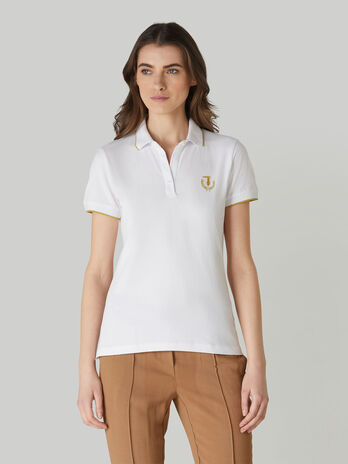 Polo coupe slim en pique stretch