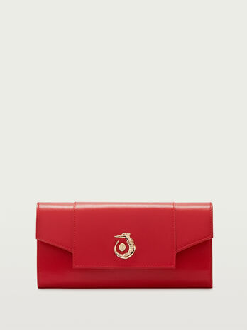 Lovy Fighters clutch in Crespo leather