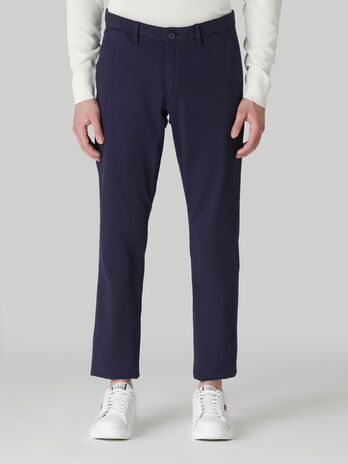Pantalon coupe aviateur en drill de coton souple